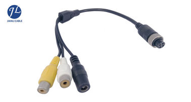 Reverse Backup Camera BNC RCA Video Cable With Waterproof Aviation Connector 4 Pin
