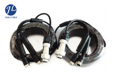 Truck / Ambulance DVR CCTV Camera Extension Cable 7 Pin Trailer Plug Oil Resistant